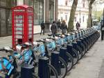 Fahrradverleih in London, Barclays-System. April 2012, London  ...